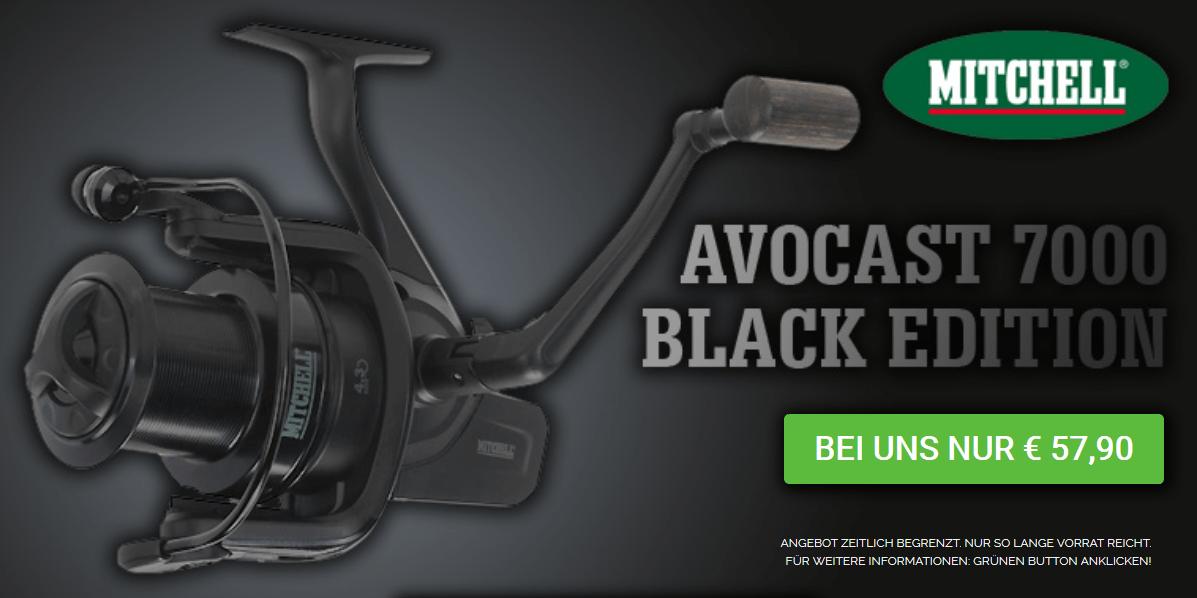 Für das Angeln auf den Silvesterkarpfen: Mitchel Avocast 7000 Black Edition – Nur Euro 57,90